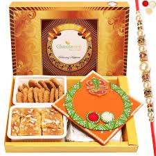 100 Mathi Ghasitaram Gifts Rakhi For Brother Big Box Of Mysoare Pak