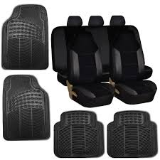 Chevrolet Cruze Floor Mats Uk by Car Seat Covers Set For Auto W Floor Mat Black Ebay