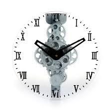 Moving Gear Wall Clock Roman