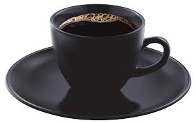 Black Coffee Cup PNG Clipart Image