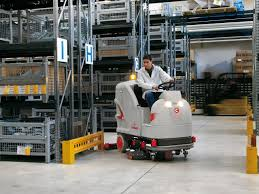 Riding Floor Scrubber Training by Ride On Machines Floor Cleaning Machines