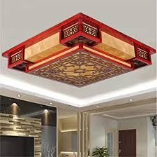 brightllt chinesische decke len wohnzimmer licht square schlafzimmer massivholz emulation klassischer led leuchten 450 h 150 mm pergament