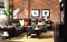 Black Leather Sofa Decorating Ideas by Furniture Black Leather Sofa By Katyfurniture With Area Rug And