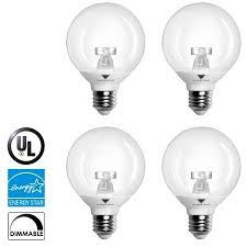 triangle bulbs 4 pack 6w g25 led dimmable 40 watt equivalent