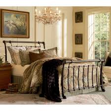 Leggett And Platt Metal Headboards by Fairfield Iron Bed In Dark Roast Humble Abode