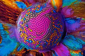 millefiori fabian oefner ferrofluid and watercolor art