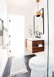 Large Modern Bathroom Rugs by Home Tour A Hip Couple U0027s Fresh California Bungalow California