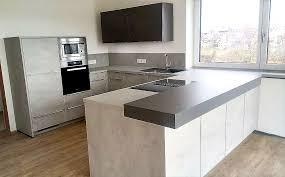 stylische betonoptic schiefergrau mega küchenwelten