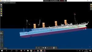 britannic gigantic sinking algodoo youtube