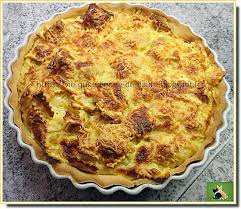 recette de quiche aux raviolinis garnis de jambon sur une pâte brisée