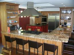 Outstanding Small L Shaped Kitchen Design Of Island With Cooktop And Seating For Ideas