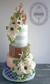 Elegant Nautical Wedding Cake