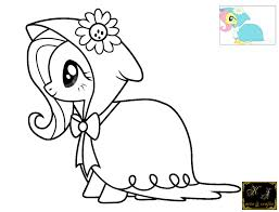 Fluttershy Coloring Pages Exclusive My Little Pony Pictures