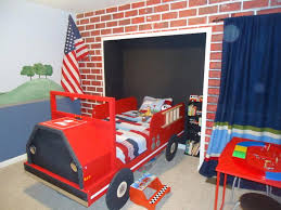 Funny-kids-bedroom-design-with-fire-truck-bed | DWEEF.COM - Bright ... Bed System Midsize Decked Storage Truck Bed And Breakfast Duluth 13 Cool Pieces Of Kids Fniture On Etsy Rooms Nurseries Turbocharged Twin Step2 Fire Bunk Beds Funny Can You Build A Boys Buy A Custom Semitractor Frame Handcrafted Yamsixteen Attractive Platform Diy About Pinterest The 11 Best For Rooms New Timykids