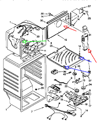 Whirlpool Refrigerator Leaking Water On Floor by Whirlpool Refrigerator Leaks Water On The Inside Of The