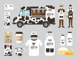 100 The Car And Truck Shop Vector Restaurant Cafe Design Set Street Dairy Food