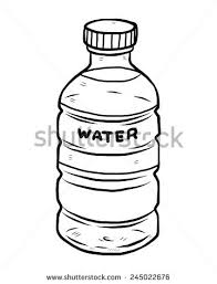 Water Bottle Sketch Stock Images Royalty