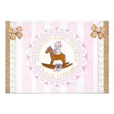 Lil Cowgirl Girl Country And Western Baby Shower Card
