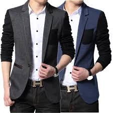 Wholesale Mens Suits Blazers At 3267 Get New Style Suit Men Brand Casual Jacket Latest Coat Designs Patch Urban Clothing Pea Coats
