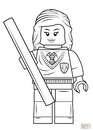 Lego Hermione Granger Coloring Page From Harry Potter Category