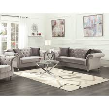 100 2 Sofa Living Room Frostine Grey Piece Set And Loveseat NA