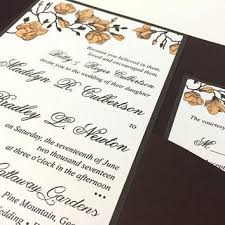 Rustic Wedding Invitation Pocketfold Set