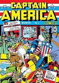 Captain America Comics 1 Cover Dated March 1941 Art By Kirby And Joe Simon