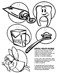 Dental Health Mobile Coloring Page