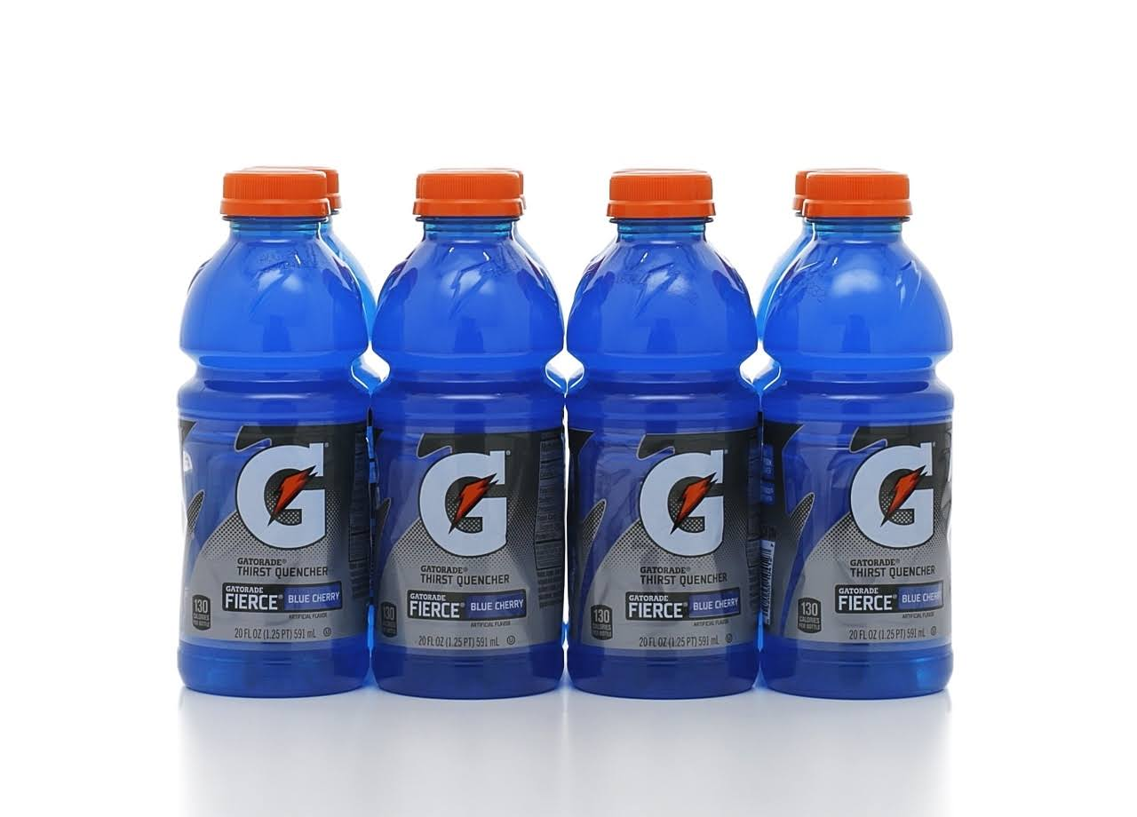 Gatorade Thirst Quencher Sports Drink - Fierce Blue Cherry, 8pk, 20oz