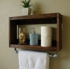Wall Shelves For Towels Rectangle Brown Varnished Wooden Shelf 17 Best Ideas About Bathroom Towel Storage