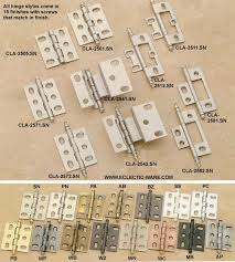 mortise and non mortise cabinet door hinges eclectic ware