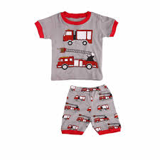 Babytree Little Kids Short Sleeve Pajamas Set With Cartoon Red New ...