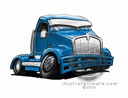 Race-truck-Cartoon-shaded - DMAC Studio, Illustrate Create