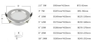 10 Inch Recessed Down Light 24W With 245mm Cut Out LED Lighting