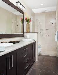 awesome brown tile framed shower door with regard to floor tiles