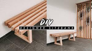diy bank aus holz selber bauen einfache und günstige outdoor sitzbank für garten und terrasse