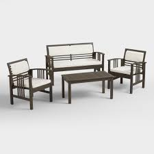 Threshold Patio Furniture Covers by Belize 4 Piece Outdoor Occasional Furniture Set World Market