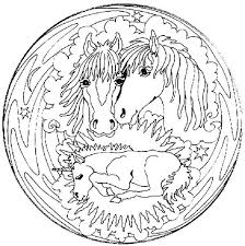 Family Horse Mandala Animal Coloring Pages