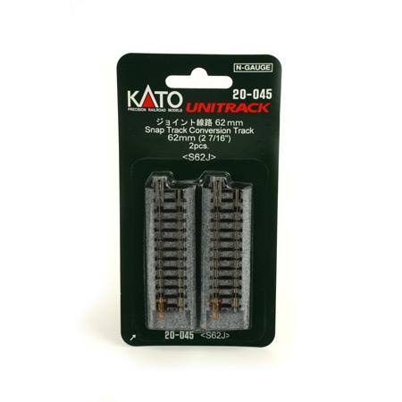 Kato Unitrack Conversion Track - N Scale, 2-7/16, 62mm