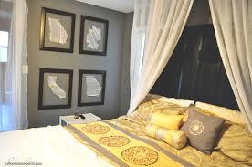 Retro Gray Yellow Master Bedroom Redo And Grey As Wells