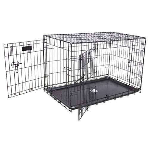 Precision Pet Products Precision Pet ProValu Great Crate Double Door Dog Crate - Black, Wire