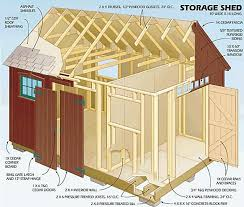 12x16 Storage Shed Plans by Nane February 2015