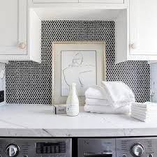 black laundry room backsplash tiles design ideas