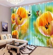 personnalisé moderne chambre rideaux tulipe papillon 3d rideaux