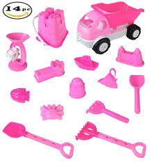 Pink Princess Castle Beach Set Toy For Girls - Includes Dump Truck ...