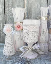Burlap And Lace Pink Shabby Chic Vase Collection Wedding Decor Rustic Can Make With White Spray Paint Rough It Up