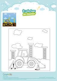 Coloriage Tracteur à Imprimer With Tractopelle A Colorier Et A