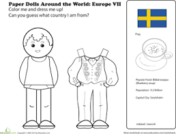 Paper Dolls Around The World Europe VII