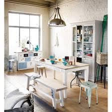 comptoir de cuisine maison du monde comptoir multi tiroirs meuble de métier en bois blanc l 133 cm