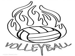 Download Coloring Pages Volleyball Net Trend